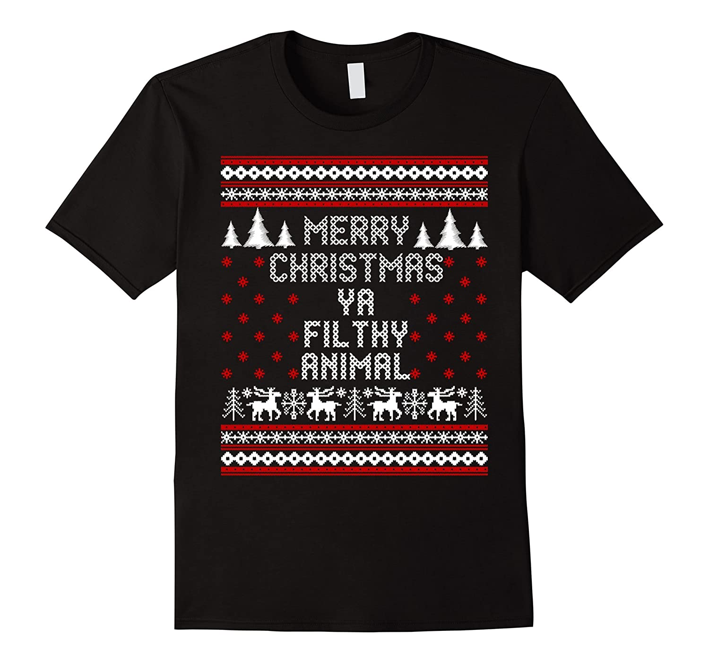 Merry Christmas Ya Filthy Animal T Shirt Goatstee