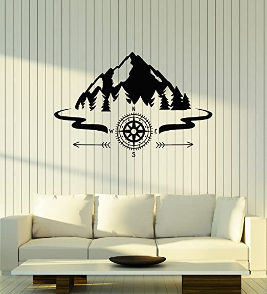 Beautiful 22 X 34 FAST SHIPPING Compass and  Map Wall Picture