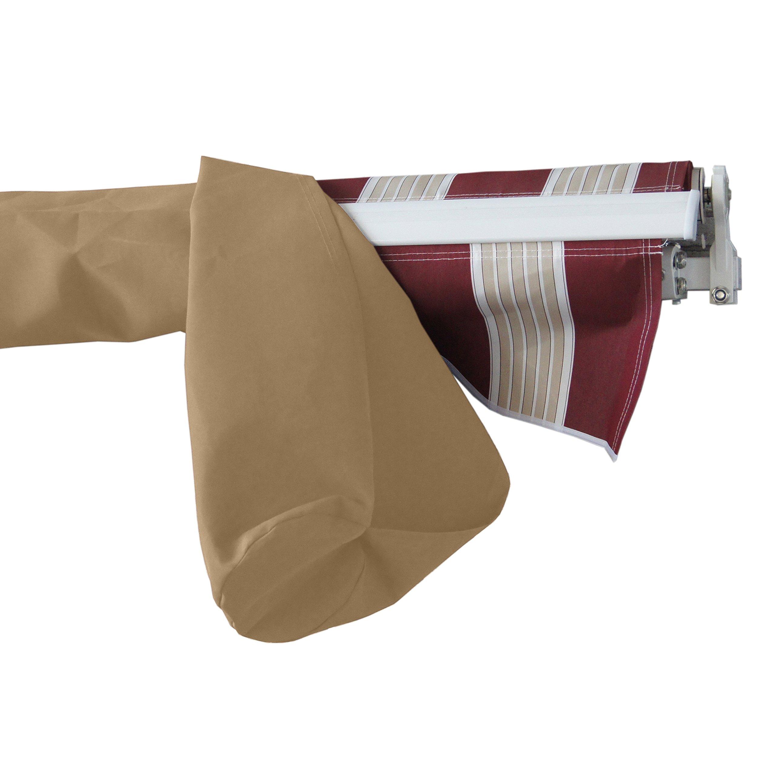 ALEKO AWPSC12X10SD31 Protective Awning Cover Rain Canopy Storage Bag 12 x 10 Feet Sand