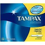 Tampax Cardboard Tampons, Regular Absorbency, Unscented, 40 Count