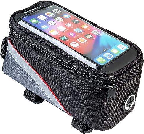 ECENCE Bolsa para Cuadro de Bicicleta, con Visor para Smartphone ...