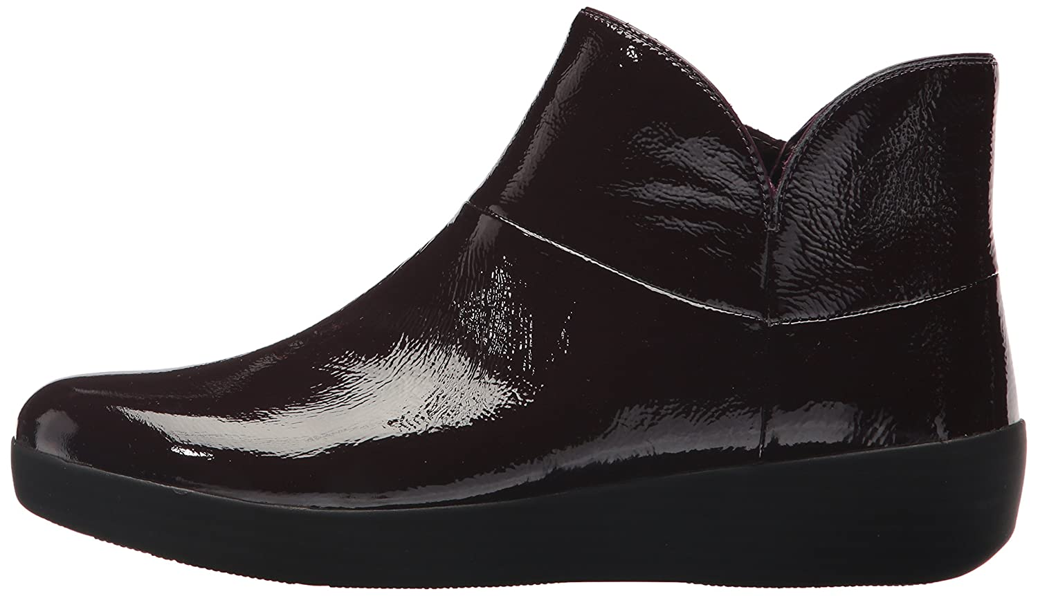 FitFlop Women's Supermod Ii Crinkle-Patent 10 Leather Ankle Boot B075G3CNCF 10 Crinkle-Patent B(M) US|Purple 291877