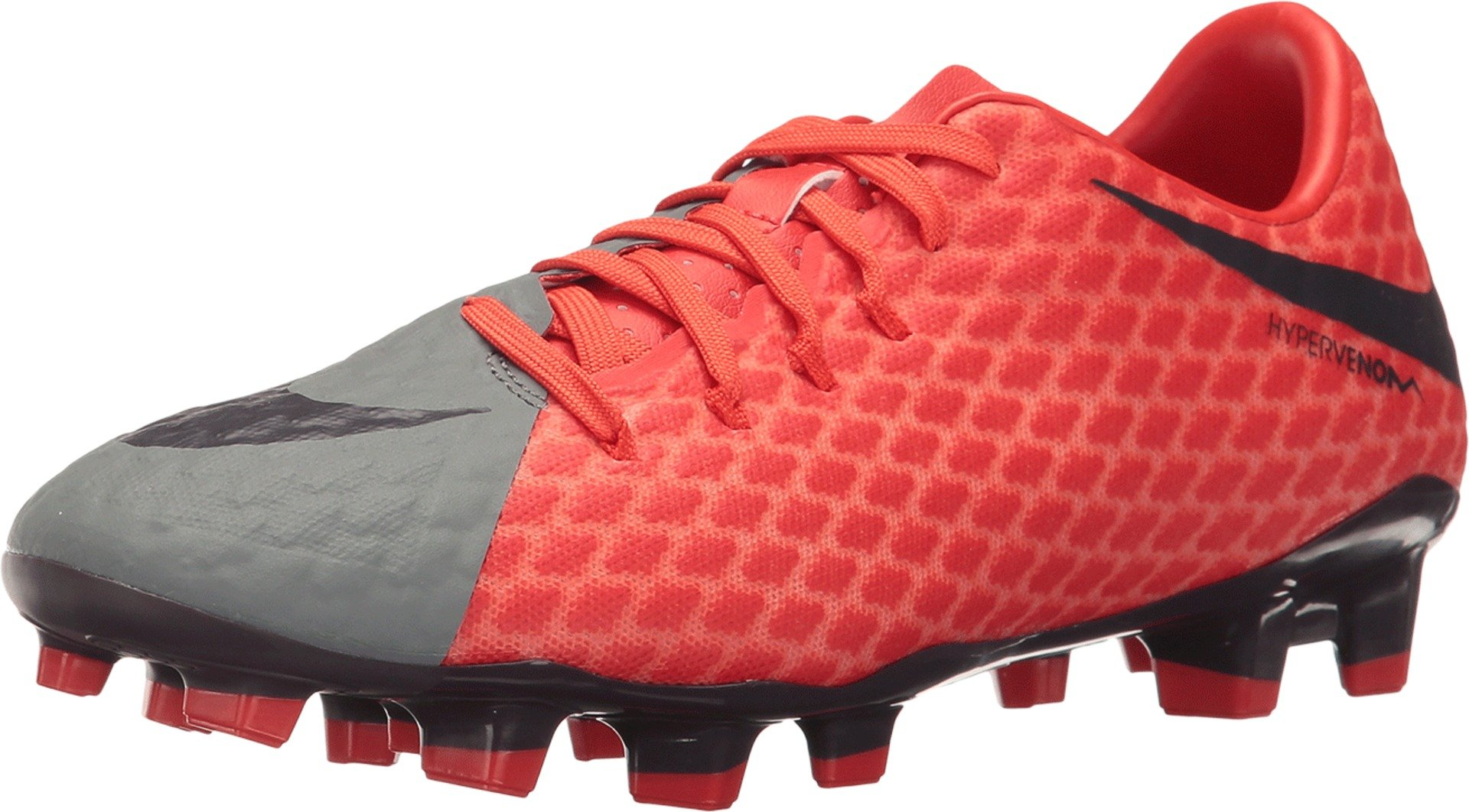 Nike New Women's Hypervenom Phelon II FG Soccer Cleat Grey/Orange 6.5 by Nike