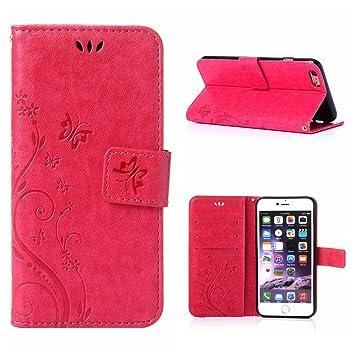 coque iphone 6 portefeuille fleur