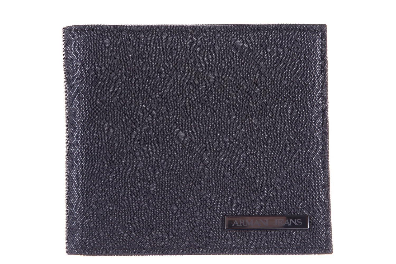 Armani Jeans cartera billetera bifold de hombre nuevo negro ...