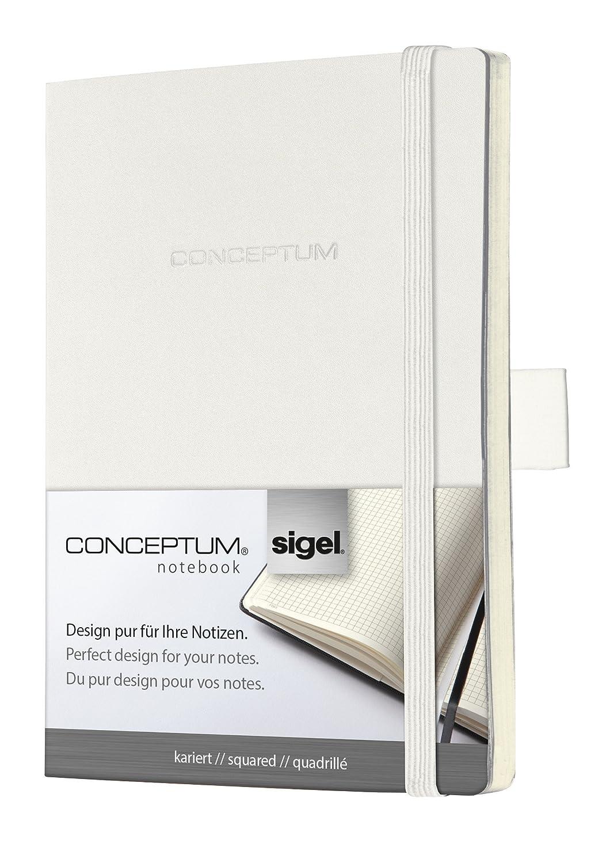 Sigel CO233 Notizbuch, ca. A6, blanko, Softcover, weiß, CONCEPTUM - weitere Farben B002ZSXH0K  | Sehr gute Qualität