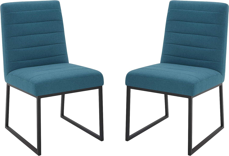 Amazon Brand – Rivet Decatur Modern Upholstered Dining Chair, Set of 2, 21