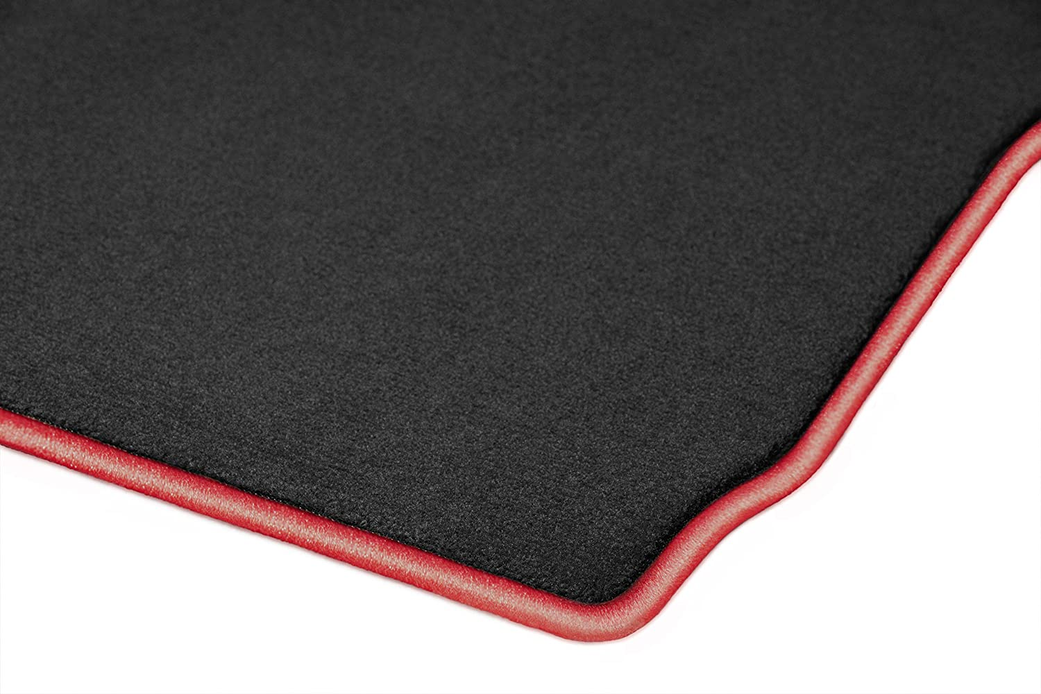 2012 2013 Cadillac CTS Sedan Black with Red Edging Driver /& Passenger Floor GGBAILEY D50730-F1A-BLK/_BR Custom Fit Car Mats for 2011