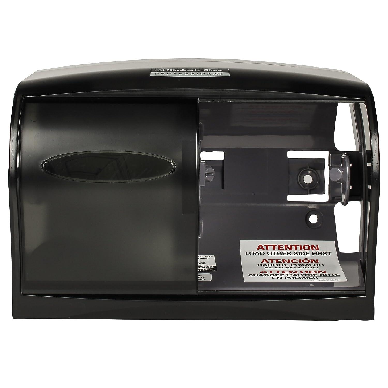 Kimberly-Clark Professional 09604 Coreless Double Roll Tissue Dispenser, 11 1/10 x 6 x 7 5/8, Smoke/Gray