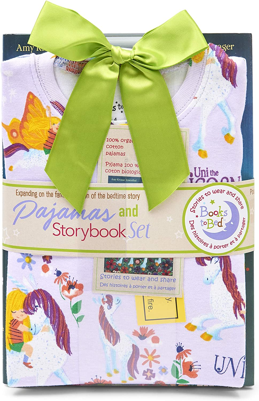 Books to Bed Girls Book and Long Sleeve Printed Pajama Set Pajama Set