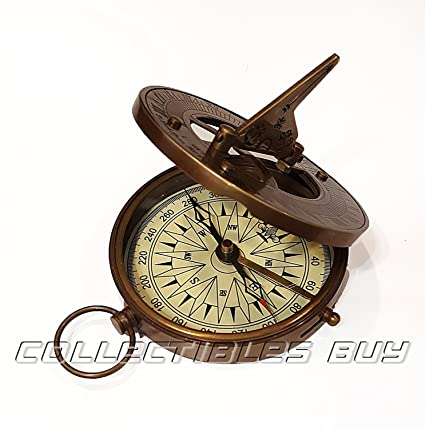 Maritime Compasses Maritime Antique Compass Nautical Brass Magnetic Sundial Compass Best For Antique Gift.