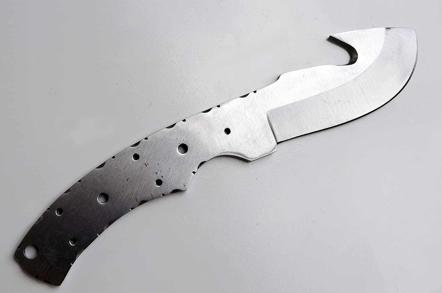 Whole Earth Supply 1095 High Carbon Steel Guthook Knife Blank Blade Hunting Skinning Skinner 1095HC