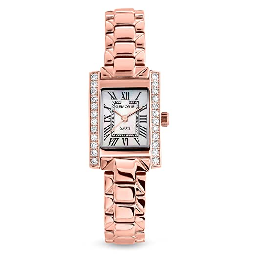 Amazon.com: gemorie Mujeres Moda circonio cúbico Reloj con ...