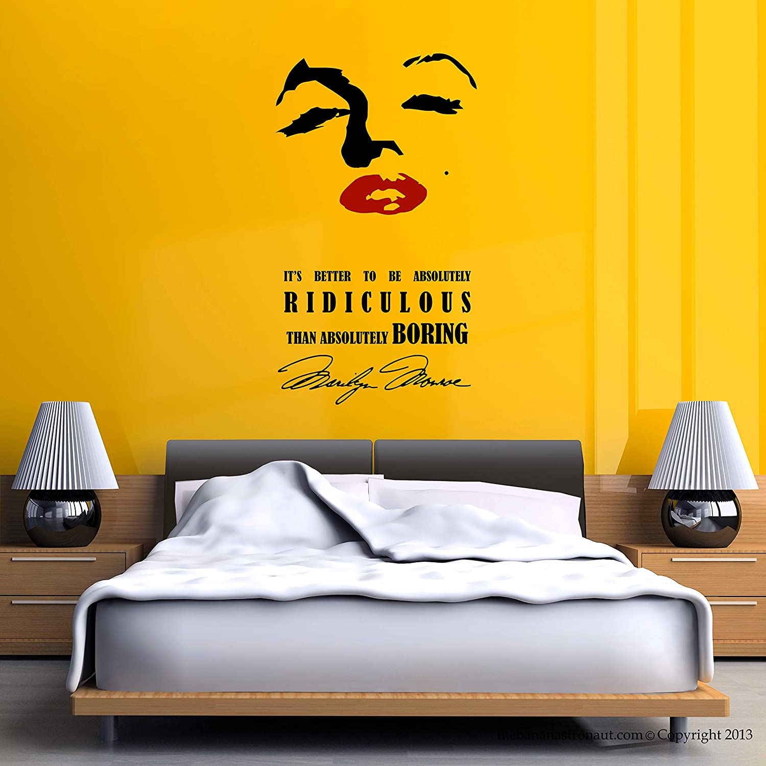 Amazon.com: Marilyn Monroe Wall Decal Stickers Eye and Lip Decor ...