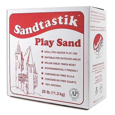 Sandtastik Sparkling White Play Sand, 25 Pounds - 25.-LB-BOX-REG: Industrial & Scientific