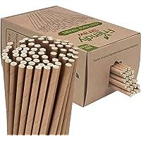 "Friendly Straw 300 Pack Biologisch afbreekbare Kraftpapier-papieren rietjes, FDA en FSC gecertificeerd 7,7 ""x .25…"