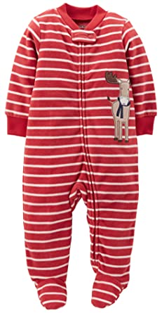 8555a31fa Amazon.com: Carter's Sleep 'N' Play Fleece Footie (Baby) - Moose ...