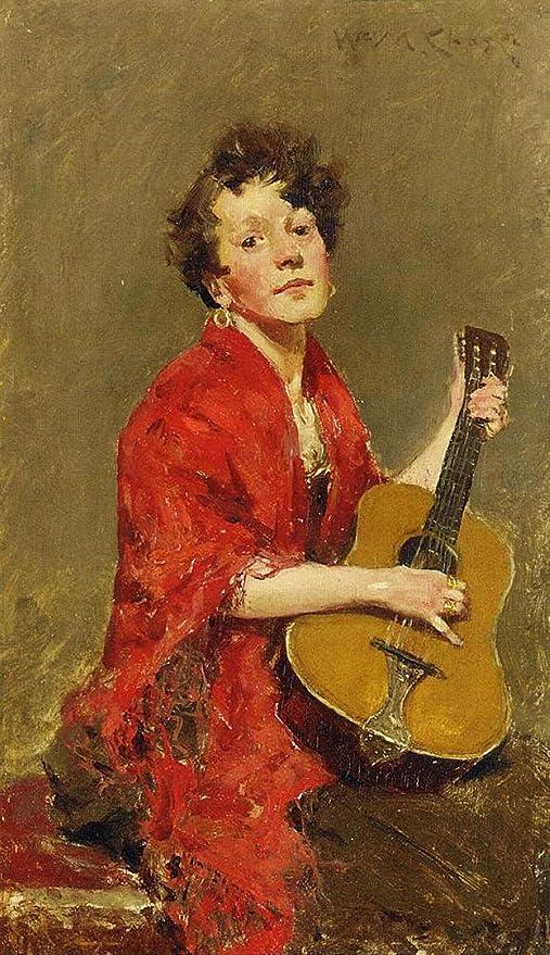 El Museo de salida - chica con guitarra, 1886 - A3 Poster: Amazon ...