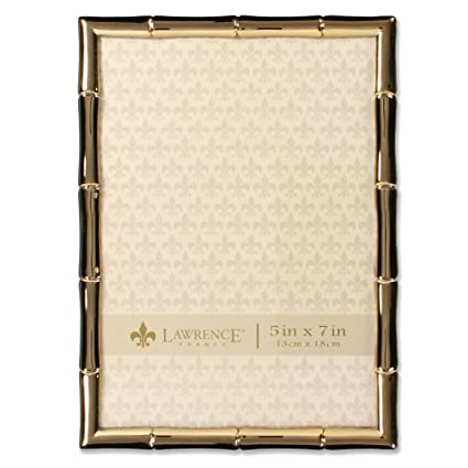 Amazon.com - Lawrence Frames 5 x 7 Gold Metal Picture Frame with ...