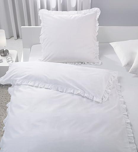 MB Warenhandel24 Bettwäsche Doppelpack Romantische RÜSCHEN