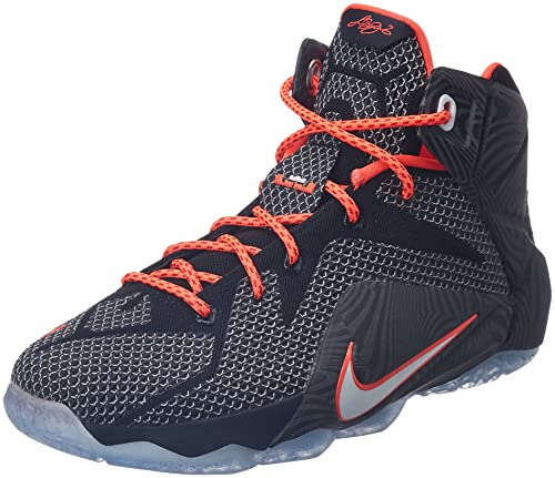 6e72fbc0cba Nike Lebron XII 12 GS Black White Bright Crimson RED 685181 005 Sz 6.5Y   Amazon.ca  Shoes   Handbags