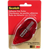 Scotch Adhesive Dot Roller, 0.31 x 49 Feet (6055) Roller 1-Pack Transparent