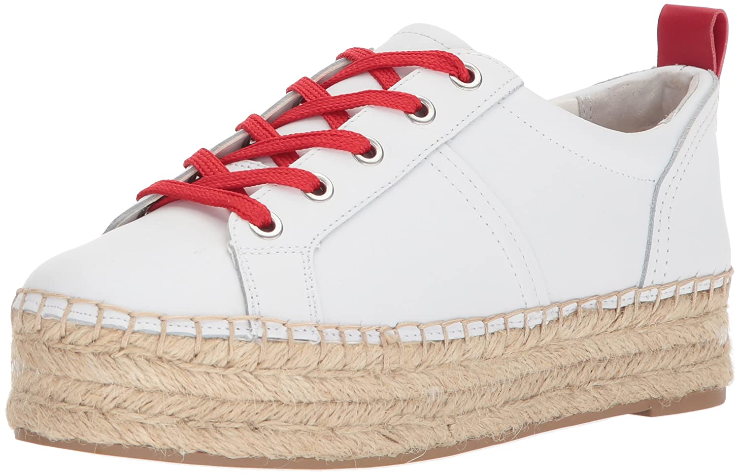 Sam Edelman Women's Carleigh Sneaker B072N9CJPL 9 B(M) US|Super White/Candy Red