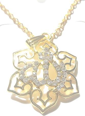 Gewidmet Islam Muslimisches Schmuck Allah Anhänger Halskette Allahkette Silber Strass Uhren & Schmuck Folkloreschmuck