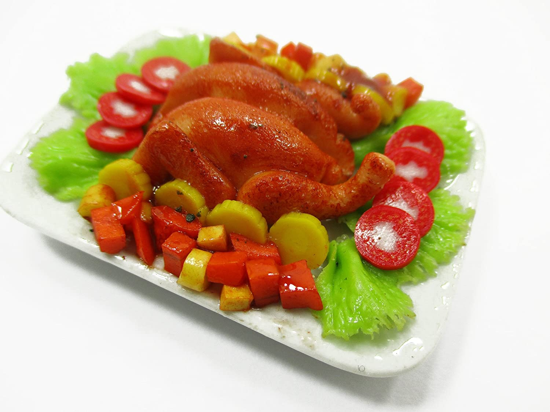 1 B07CBZQPLN : Roasted : 6バービードールハウスミニチュアFood Roasted Turkey Dinnerセラミックプレート14721 B07CBZQPLN, ふわとろチーズケーキ「ボナボン」:1c6dbe19 --- alumnibooster.club