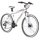 Bikesport Fahrrad Mountainbike MTB Hardtail Herren Fahrrad 26 Zoll Prime Rahmen 46 cm Shimano 21 Gang Scheibenbremse (Weiß)