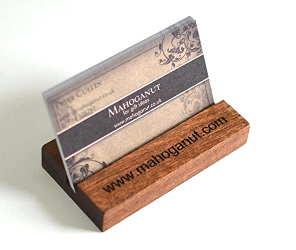 Personalised Business Card Holder Wooden Business Cardholder Made