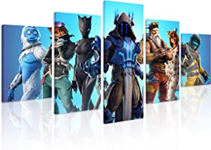 Jackethings 5 Piece Video Game Canvas Wall Art Creative Wall Painting Wooden Framed for Home Canvas Art Decor