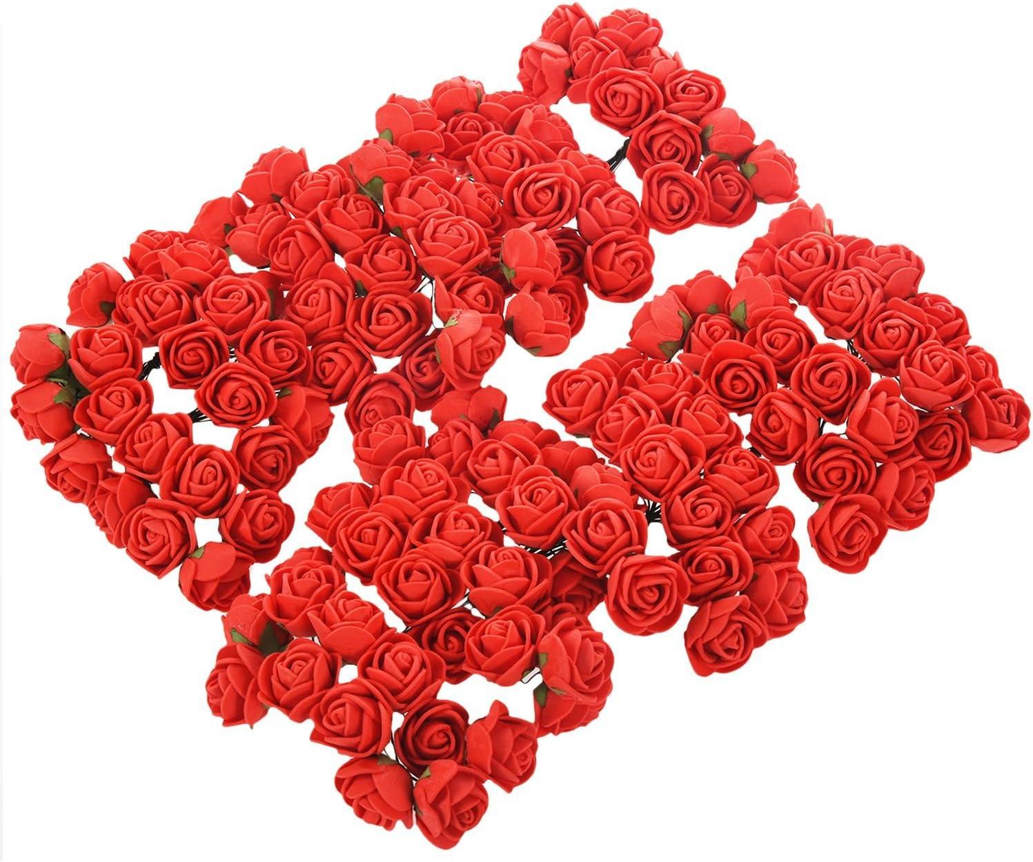 UK 144 PCS Mini Foam Rose Flowers Bouquet DIY Crafts  Bouquet Wedding Home Decor