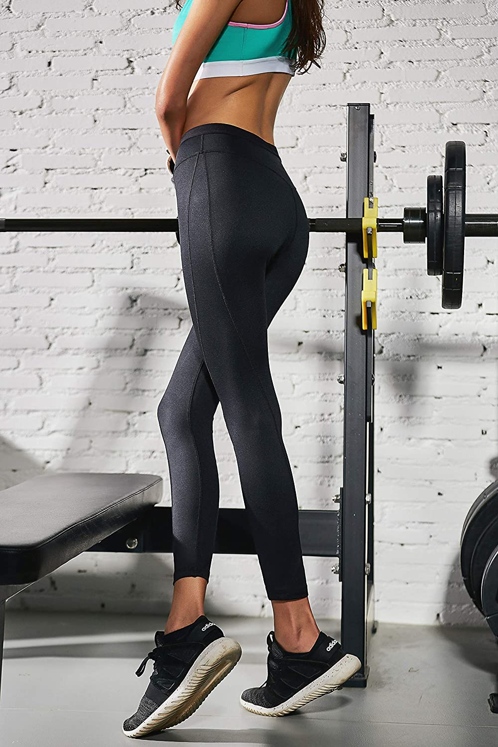 acd7ca5ad30d4 Curve Muse Women Yoga Pants Leggings Tights Workout Activeware High Waist 2  pkg