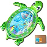Fun N Well Inflatable Tummy Time Water Play Mat | Large & Cute Turtle Design | Non-Leak & Child-Safe | Fun & Stimulating Baby Tummy Time | Ideal for Baby & Toddler | Easy Set Up & Portable (Green)