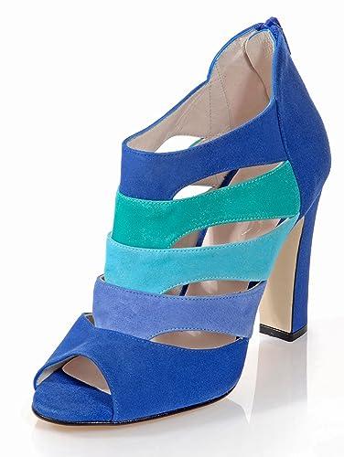 uk availability ce023 35ee6 Alba Moda Damen Sandalette mit trendstarken Cut-Outs: Amazon ...