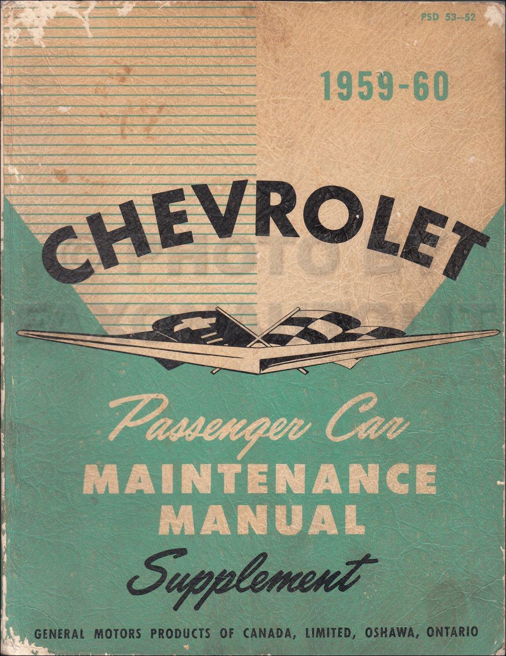 1959-1960 Chevrolet Repair Shop Manual Original Supplement Cars & El Camino:  Chevrolet: Amazon.com: Books