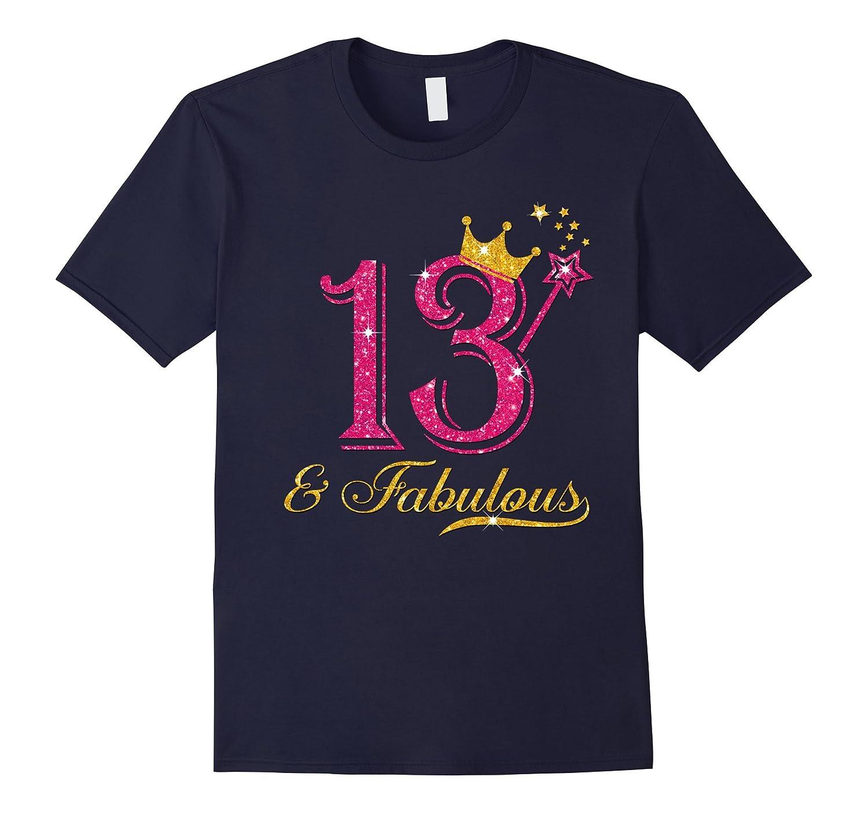 13th birthday girl fabulous shirt-TH