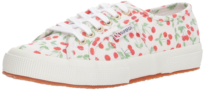 Superga Women's 2750 Linenfruitw Sneaker B0777XGPY6 41.5 M EU (10 US)|Cherry Pa