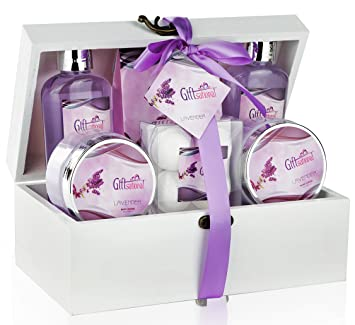 spa gift basket with sensual lavender fragrance best christmas gift or birthday wedding