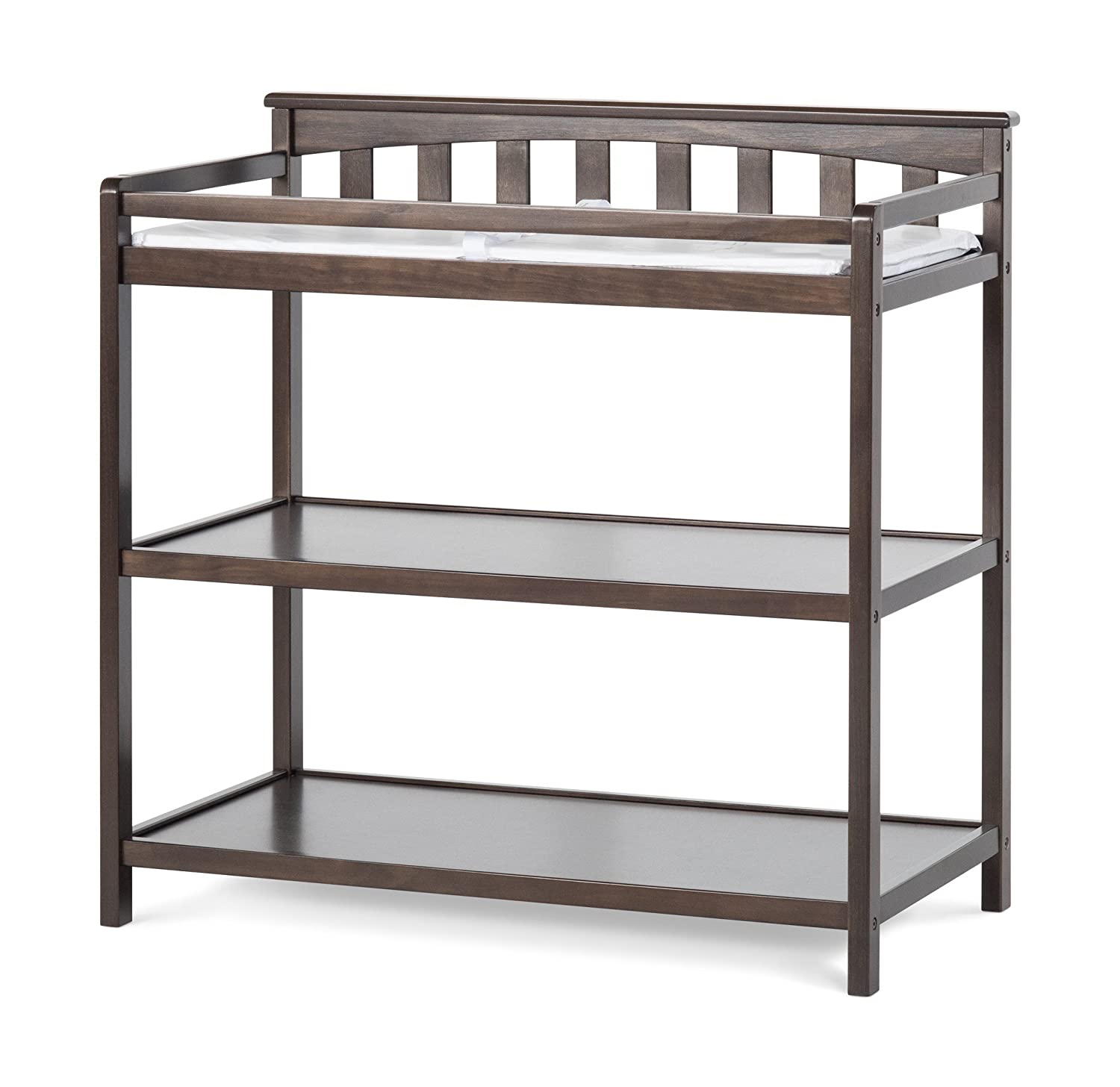 Amazon.com : Child Craft Flat Top Changing Table With Pad, Cool Gray : Baby