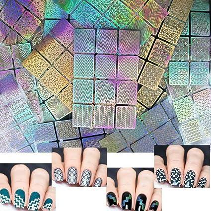 Nail stickers, 24 hojas 96 diseños 288 PCs Hollow nail art nail sticker hoja vinilo