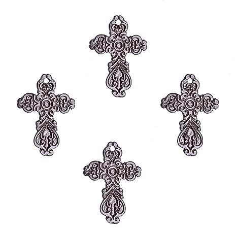 Amazon.com: Sammsara Set of 4 bronze wall crosses décor Western ...