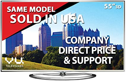 VU 55XT780 139 cm  55 inches  Full HD LED Smart 3D TV  Silver  Televisions