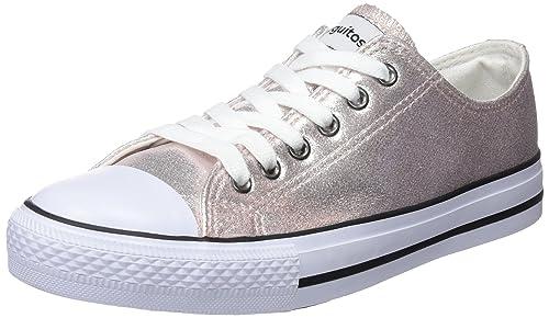 Conguitos Basquet Metalizado, Zapatillas para Niñas, Rosa (Pink), 28 EU: Amazon.es: Zapatos y complementos