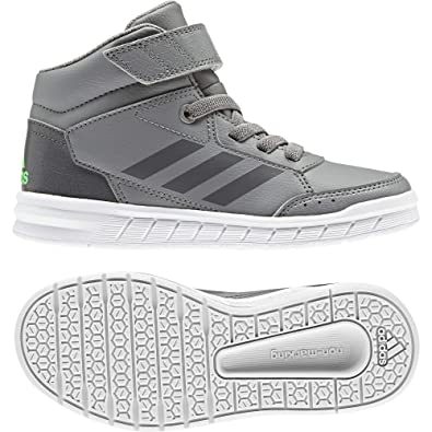 new style a8644 40fd3 adidas AltaSport Mid EL Running Shoe Grey Shock Lime, 1 M US Little Kid