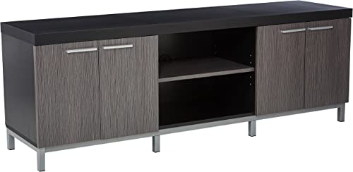 Monarch Specialties Black/Grey Hollow-Core TV Console