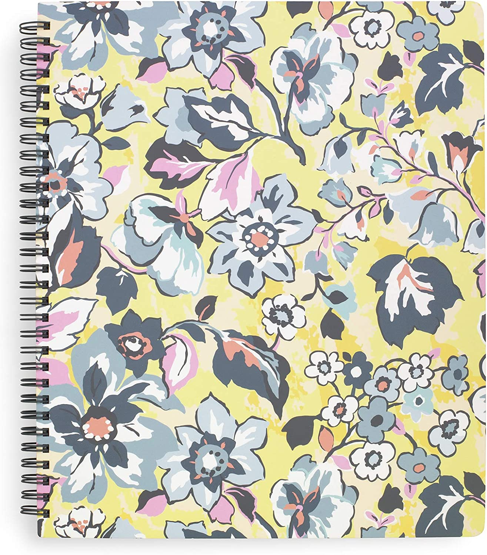Vera Bradley Yellow Floral Large Spiral Notebook, 11