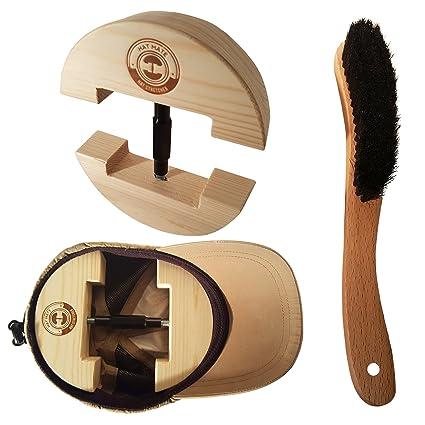 93b38fabbd2802 Premium Hat Stretcher with BONUS Hat Brush & Ebook. HAT MATE. Solid Wood,