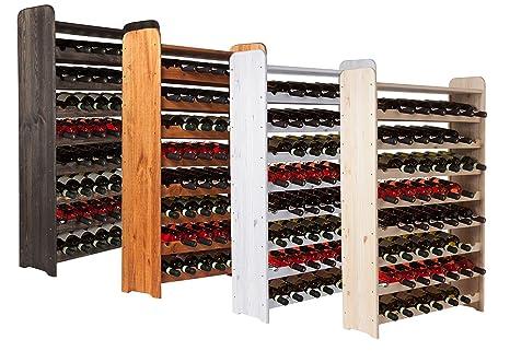 Cave à vin casier à vin étagère à bouteille vinothek pour 56 ...
